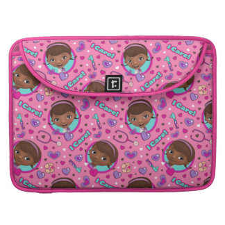 Doc McStuffins | I Care Pink Pattern Sleeve For MacBook Pro