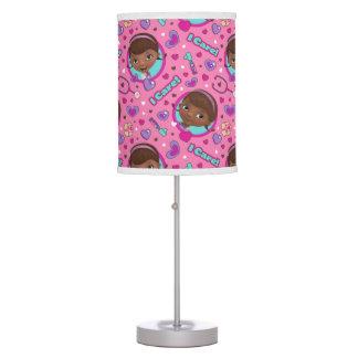 Doc McStuffins | I Care Pink Pattern Table Lamp