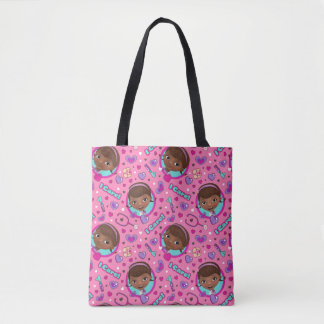 Doc McStuffins | I Care Pink Pattern Tote Bag