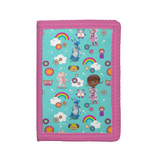 Doc McStuffins | The Care Team Pattern Trifold Wallets