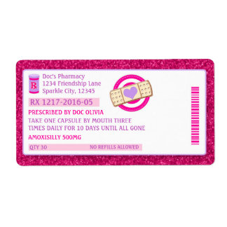 Doc Prescription Bottle Labels Sparkle