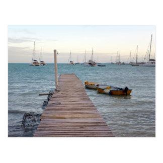 Dock and lobster pots postcard