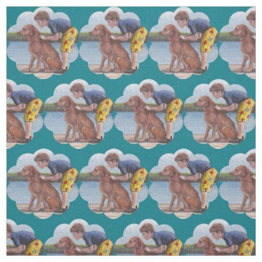 Dock Dog Junior Golden Retriever Art Fabric