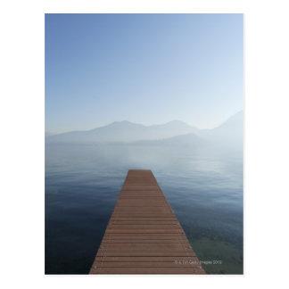 Dock in a lake postcard