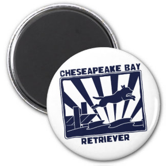 Dock Jumping Chesapeake Bay Retriever 2 Inch Round Magnet