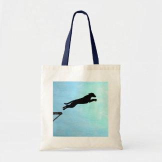 Dock Jumping Dog Tote Bag
