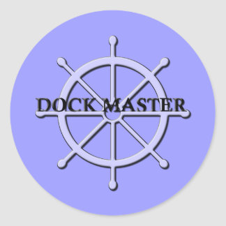 Dock Master Ship Wheel Sticker 2