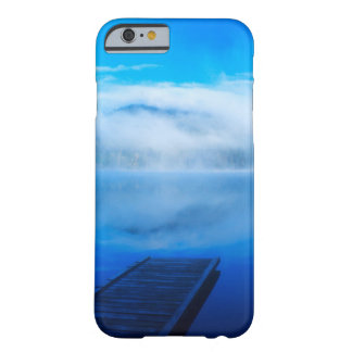 Dock on calm misty lake, California Barely There iPhone 6 Case