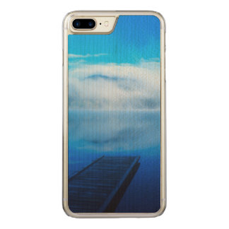 Dock on calm misty lake, California Carved iPhone 7 Plus Case