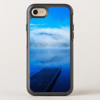 Dock on calm misty lake, California OtterBox Symmetry iPhone 7 Case