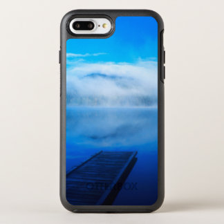 Dock on calm misty lake, California OtterBox Symmetry iPhone 7 Plus Case