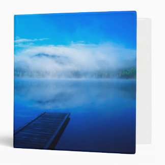 Dock on calm misty lake, California Vinyl Binders