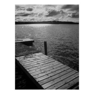 Dock on the Lake Poster