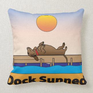 Dock Sunned Throw Pillow