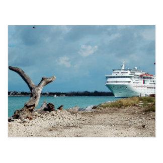 Docked Cruise Ship Postcard