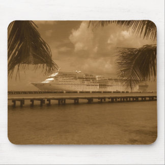 Docked in Cozumel Mouse Pad