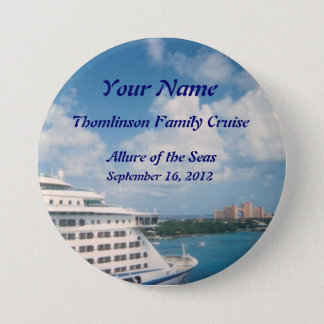 Docked in Nassau Custom Name Badge 3 Inch Round Button