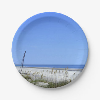 Docked on Sapelo 7 Inch Paper Plate