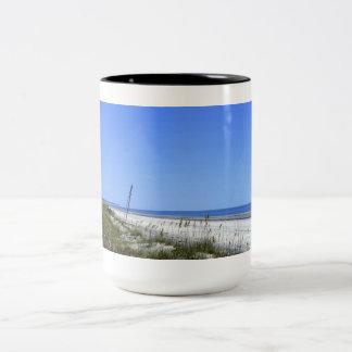 Docked on Sapelo Two-Tone Coffee Mug