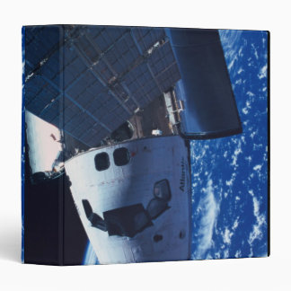 Docked Space Shuttle 3 Vinyl Binder