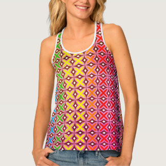 Docker all-printed paper form multicoloured reason tank top