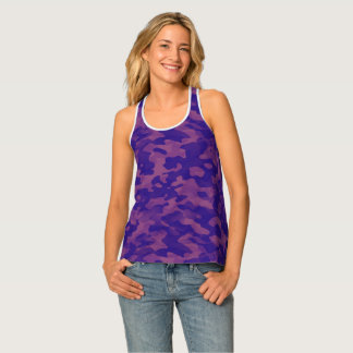 Docker back printed swimmer woman Camouflage Tank Top