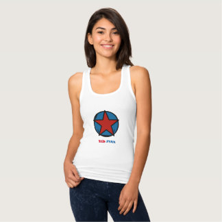 "Docker back swimmer, curved cut, ""RED STAR "" Tank Top"