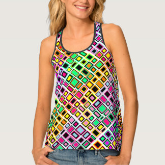 Docker Merry Squares Multicoloured Abstracted Tank Top