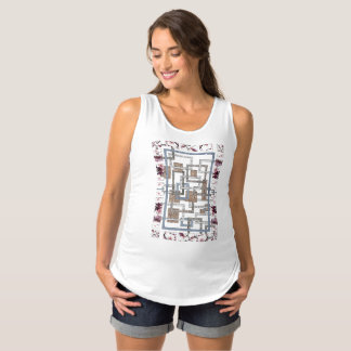 "Docker of pregnancy ""Labyrinth and cherry tree "" Maternity Tank Top"