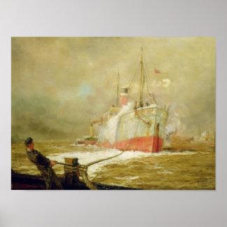 Docking a Cargo Ship Poster