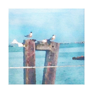 Dockside in Sausalito Canvas Print