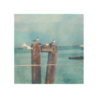 Dockside in Sausalito Wood Print