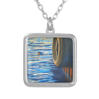 Dockside Swallows Silver Plated Necklace