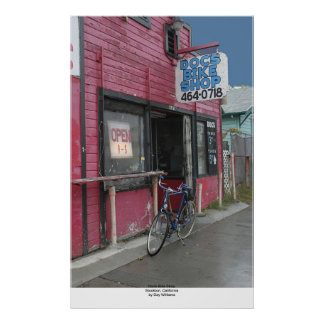Doc's Bike Shop, Stockton, California Poster