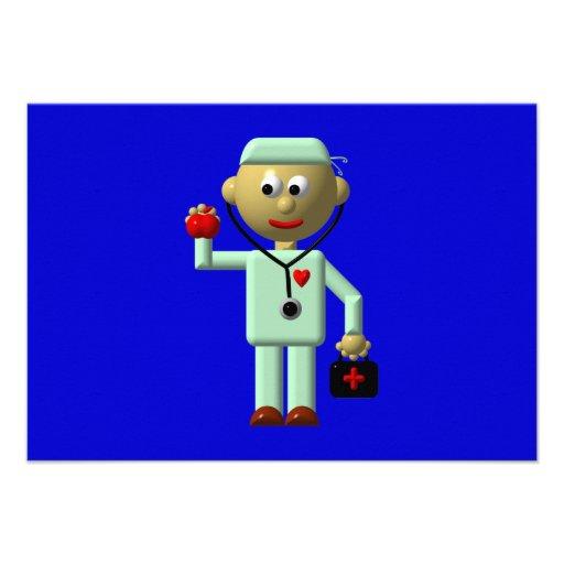 Docteur avec Apple et le sac médical Bristols Personnalisés