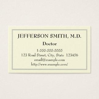 Docteur de base carte de visite