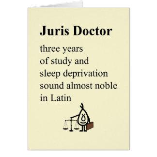 Docteur de Juris - un poème drôle d'obtention du Carte De Vœux