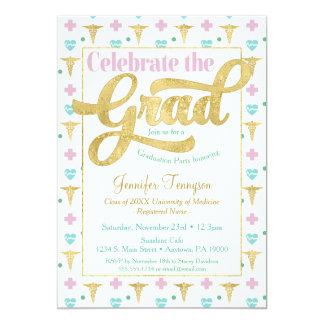Docteur Graduation Invitation Pink LPN RN