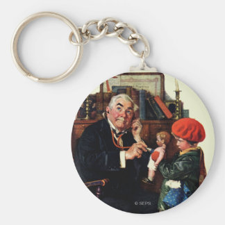 Doctor and the Doll Basic Round Button Keychain