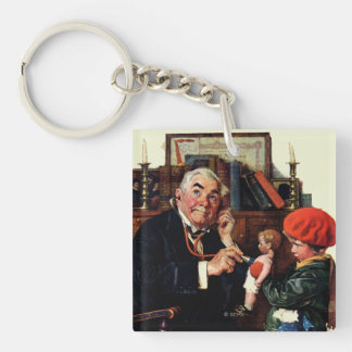 Doctor and the Doll Double-Sided Square Acrylic Keychain