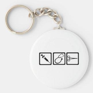 Doctor Basic Round Button Keychain