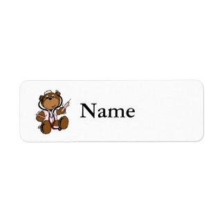 Doctor Bear Lady Return Address Label