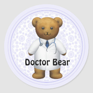 Doctor Bear - Teddy Bear Classic Round Sticker
