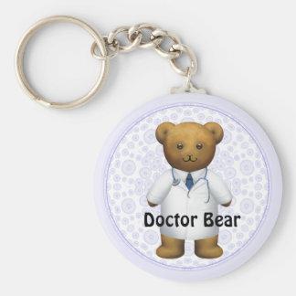 Doctor Bear - Teddy Bear Basic Round Button Keychain