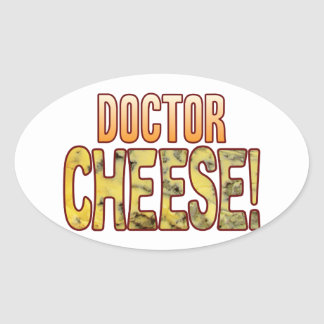 Doctor Blue Cheese Oval Sticker