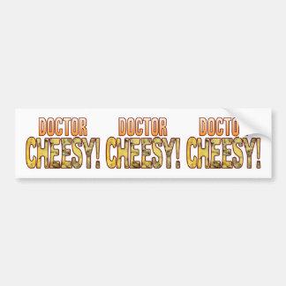 Doctor Blue Cheesy Bumper Sticker