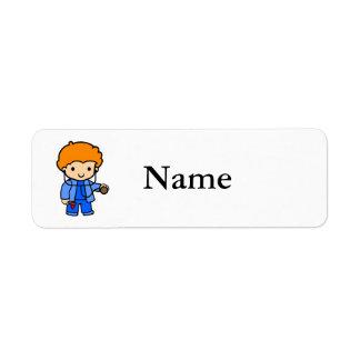 Doctor Boy 2 Return Address Label