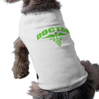Doctor Caduceus Green Doggie T-shirt