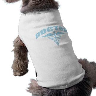 Doctor Caduceus Light Blue Pet T Shirt