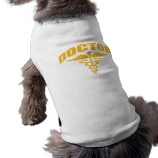 Doctor Caduceus Orange Dog Shirt